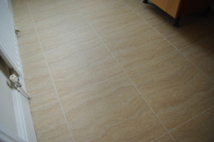 """18""""x 18"""" tiles with 5mil grout"""