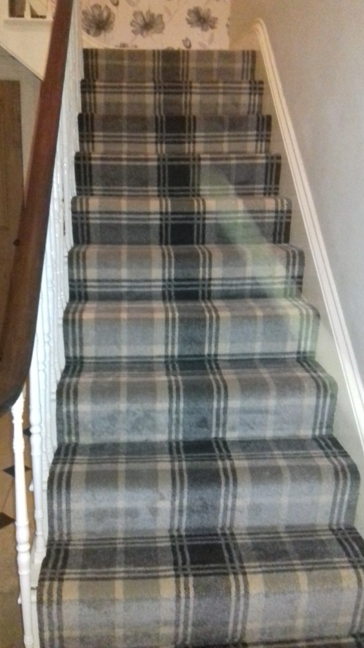 Tartan Hall Stairs And Landing East Coast Carpets